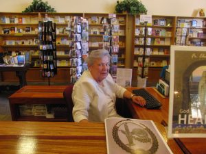 Bookstore head volunteer Joan Callaghan